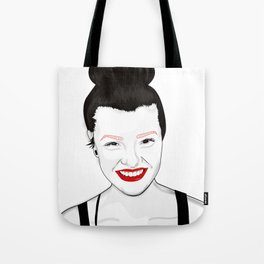 Happy independant woman strong and healthy Tote Bag