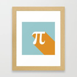 Retro Pi Framed Art Print