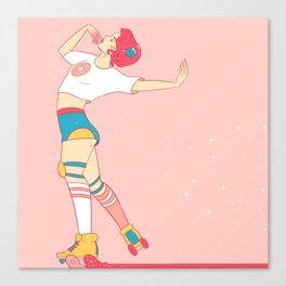 Skating Donuts Canvas Print