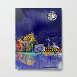 Baltimore Bright Colored Aquarium Metal Print