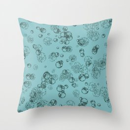 Arabidopsis protoplast cells microscopy pattern teal Throw Pillow
