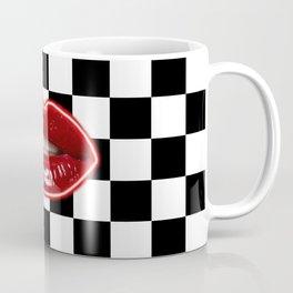 Checkered Lips Coffee Mug