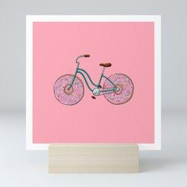 Donut Bicycle Mini Art Print