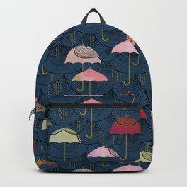 Rainclouds and Umbrellas Backpack