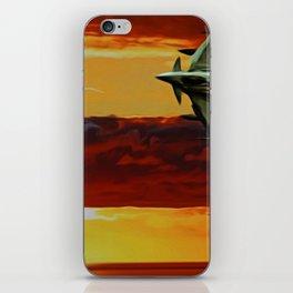 Typhoon at Sunset iPhone Skin