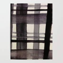 Painterly Plaid Poster