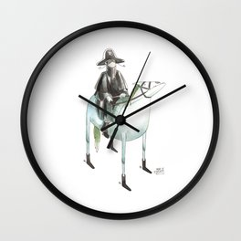 Numero 7 -Cosi che cavalcano Cose - Things that ride Things- SERIE ARGENTO - SILVER SERIES Wall Clock