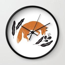Sleeping foxy Wall Clock
