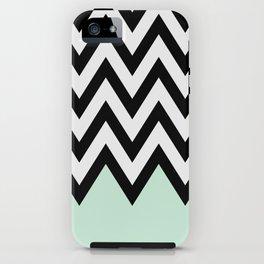 Mint Piece Chevron iPhone Case