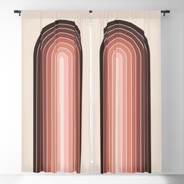 Gradient Arch - Red Tones Blackout Curtain