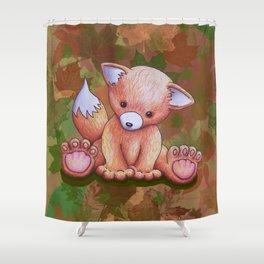 Mr Fox Shower Curtain