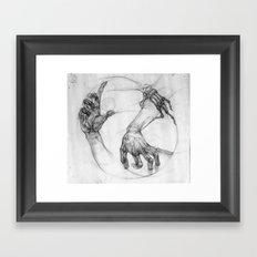 hand of life Framed Art Print