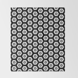 Beehive Black Throw Blanket