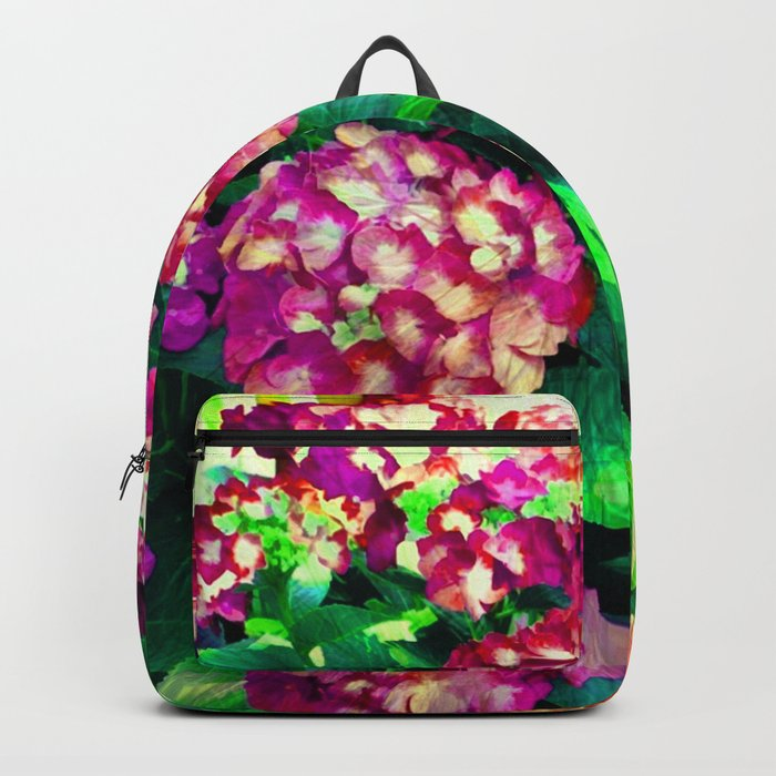 Garden Hydrangea - Raspberry Pink and Lavender Backpack