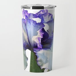 Iris 'Freedom Song' on white Travel Mug