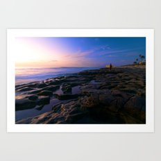 Sunset in La Jolla Art Print