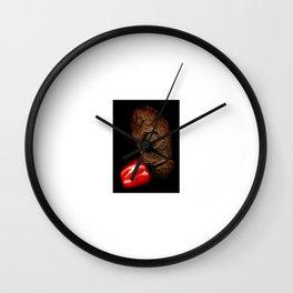 Copperhead mask_21 Wall Clock