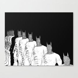 The Bat Black and White Fading Away Canvas Print