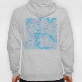 Fresh Blue Flowers Pattern Hoody