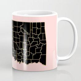 Oklahoma map Coffee Mug