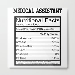 Medical Assistant Metal Print