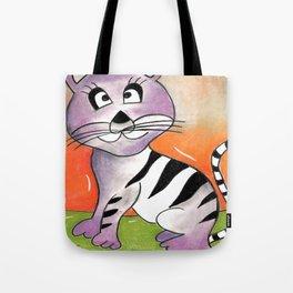 Purple Tiger Tote Bag