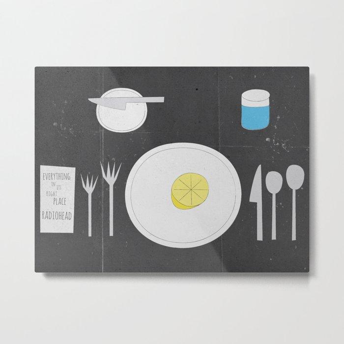 Everything Lemon - Analog Zine Metal Print