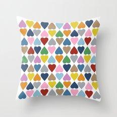 Diamond Hearts Repeat Throw Pillow