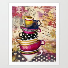Coffee Cups Divine Candy Colored Edition Art Print
