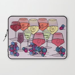 Wine and Grapes v2 Laptop Sleeve