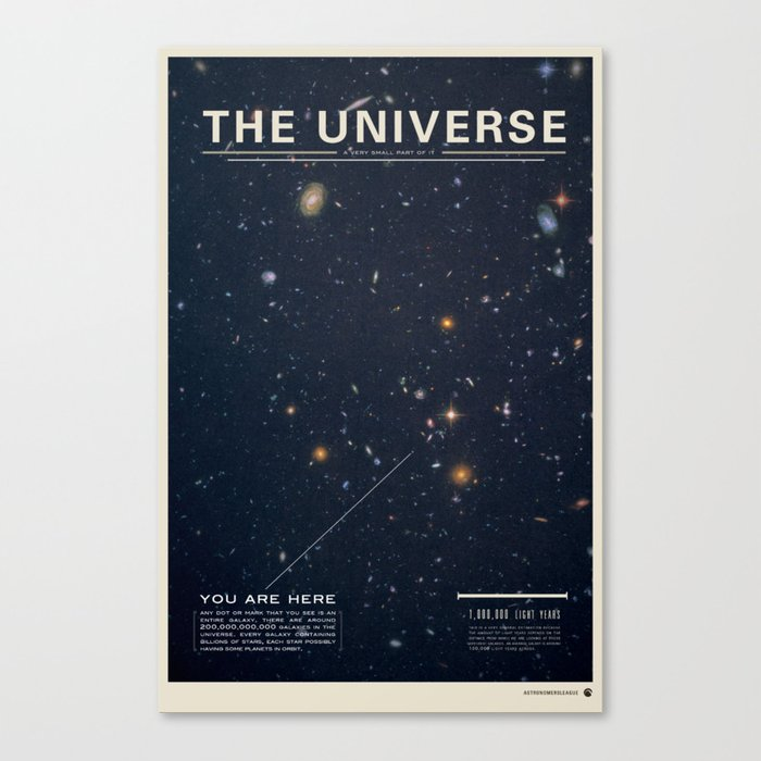 THE UNIVERSE - Space   Time   Stars   Galaxies   Science   Planets   Past   Love   Design Leinwanddruck