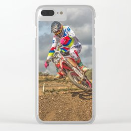 Motocross action sports Clear iPhone Case