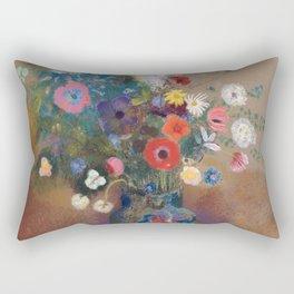 Odilon Redon - Bouquet of Flowers (1900-05) Rectangular Pillow