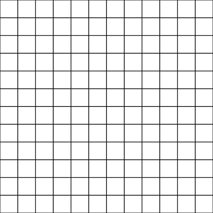 Grid Simple Line White Minimalist Duvet Cover