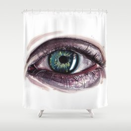 Eye painting Shower Curtain