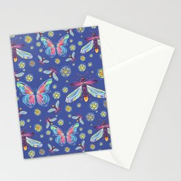 Butterflies and Fireflies Stationery Cards