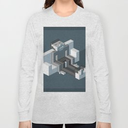 Couch slouch pixel artwork Long Sleeve T-shirt