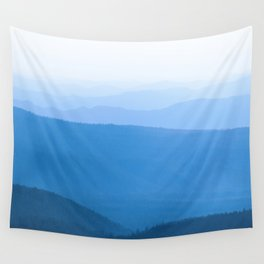 Blue Smoky Mountains Wall Tapestry