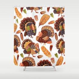 Turkey Gobblers Shower Curtain
