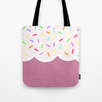 sprinkles Tote Bags featuring Sprinkles by Glanoramay