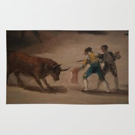 Bullfight in a Divided Ring Rug