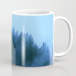 Mountaintop Pine Trees Lyrically Embraced By Night Fog Coffee Mug
