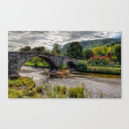 Autumn at Ivy Cottage Canvas Print