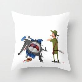 The False Grandmother Throw Pillow