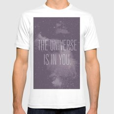 Forged in the Stars MEDIUM Mens Fitted Tee White