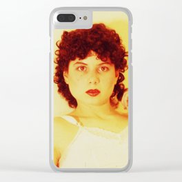 bright red lips Clear iPhone Case