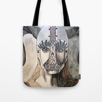 viking Tote Bags featuring Viking by Hannah Brownfield Camacho
