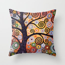 Abstract Landscape Original Art ...WESTERN SUN, by Amy Giacomelli Throw Pillow