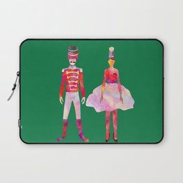Nutcracker Ballet - Candy Cane Green Laptop Sleeve