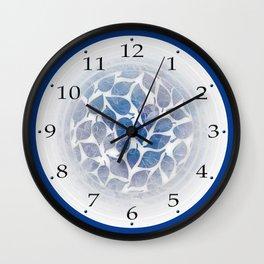 Frozen Leaves 11 Wall Clock
